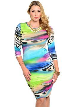 Fine Line Strapless Midi Bodycon Dress Plus Size \u2013 Poshsquare