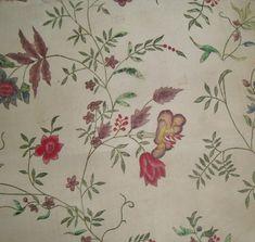 18th century pencilled silk