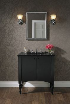 Evoking the cherished feel of an heirloom antique, the Alberry vanity from Kohler takes its design cues from much-admired Colonial furnishings. #Bathroom