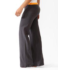 Contrast Wide Leg Athletic Pants