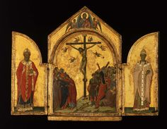 The Crucifixion; the Redeemer with Angels; Saint Nicholas; Saint Gregory | Museum of Fine Arts, Boston