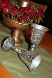 Celtic Wedding Goblets; I think I may require these when and if I ever get married again