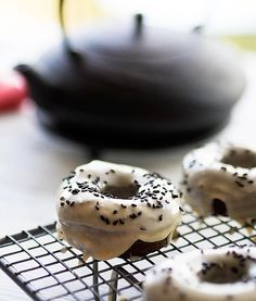 Black sesame matcha banana bread foodgawker recipes pinterest black sesame doughnuts with a miso caramel icing they are all sorts of awesome forumfinder Gallery