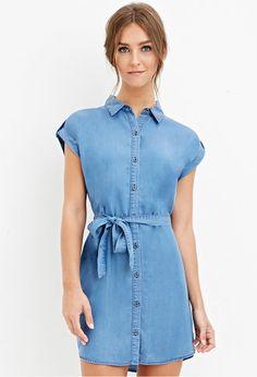 Chambray Shirt Dress | Forever 21 - 2000162191