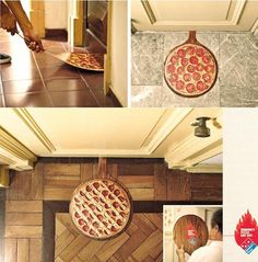 Pizza advertisement. It's a good way of making people want the product to put it in the position of its own place