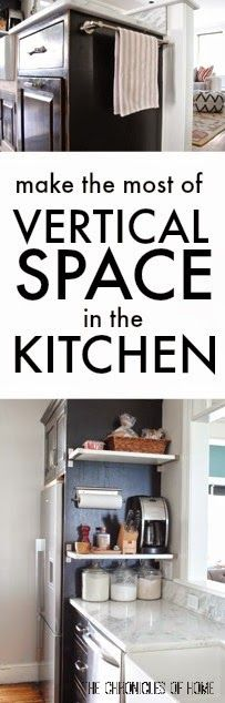 Maximize vertical space in your kitchen with these simple ideas from The Chronicles of Home | Tiny Homes