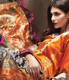 Sana Safinaz Silk collection 2015 SL_1B