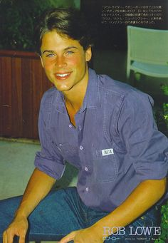 rob lowe - rob-lowe Photo Rob Lowe Young, Will Herondale, Ralph Macchio, Boys Are Stupid, Hot Boys, Gorgeous Men, Lowes, How To Look Better, The Outsiders