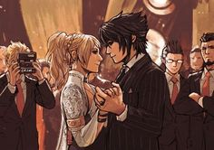 Noctis and Luna. Final Fantasy XV.