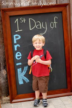 How To Turn a Large Mirror into a Chalkboard (and a great First Day of School idea!)