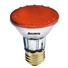 Bulbrite H50PAR20A 50 Watt Dimmable Halogen PAR20 Medium Base Dark Amber 5 Bulbs