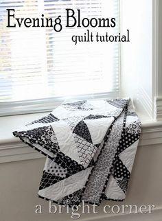 Evening Blooms quilt tutorial