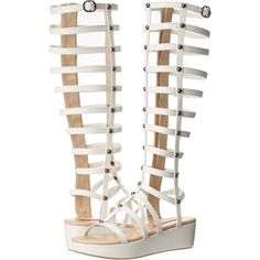 C Label Raya-3 Women's Sandals, White ($51) ❤ liked on Polyvore featuring shoes, sandals, white, wedge sandals, strap wedge sandals, roman sandals, gladiator sandals and greek sandals