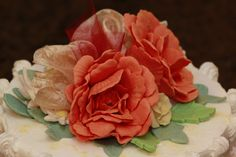 fall color gumpaste roses - Google Search