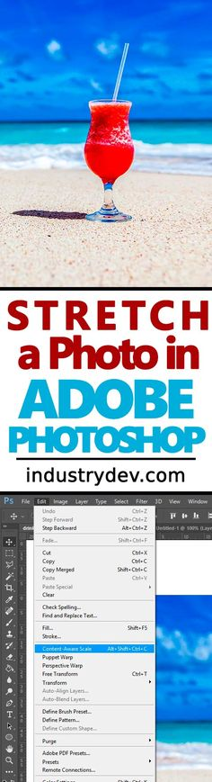 """How to Stretch an Image Using Content-Aware Scale in Adobe Photoshop: There may come a time when you'd like to """"move"""" an object in a photo like the one I'm using as an example in my most recent post. You don't want to shrink the image and you don't want to make the object appear larger - all you want to do is to move it. Well, you can do just this with a feature called """"Content-Aware Scale"""" in Adobe Photoshop. It's the closest thing to magic that I've ever seen."""