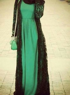 Green + lace