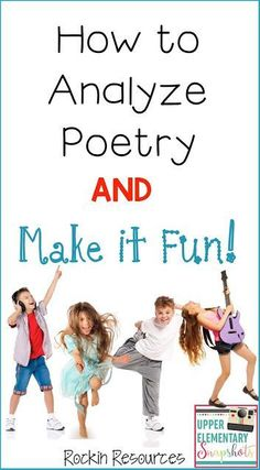 This post is loaded with ideas to help your class learn to analyze poetry!  This way of analyzing poetry is perfect for upper elementary students and they will have fun learning!