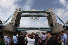 Olympic rings Tower Bridge -London 2012