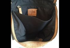 Sale Brown Leather Backpack Laptop Bag Travel by CyanByMiriWeiss