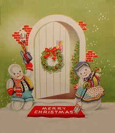 Snowman Christmas welcome.