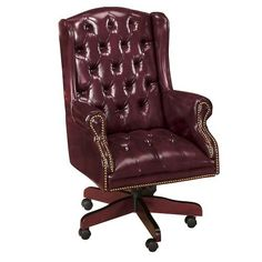 Presidential Traditional Tufted Vinyl Executive Chair Forest Green Vinyl/Traditional Mahogany Frame Global Furniture USA http://www.amazon.com/dp/B002GPUPS4/ref=cm_sw_r_pi_dp_I8whwb1TYFXSR