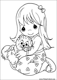 precious moments 14 coloring page for kids and adults from cartoons coloring pages precious moments coloring pages - Free Toddler Coloring Pages