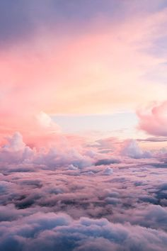 The shapes you see in the clouds will point you towards your dream job. Beautiful Sky, Beautiful Scenery, Beautiful World, Beautiful Places, Pink Clouds, Pink Sky, Pastel Sky, Pink Ocean, Pink Blue