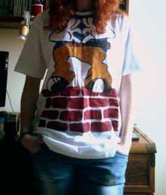 Koszulka robiona farbami akrylowymi