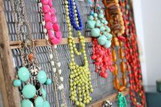 Pinterest Hack - My $0 Jewelry Organizer via Flower Patch Farmgirl: