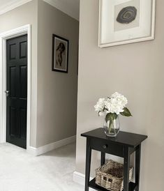 Hall Paint Colors, Hallway Wall Colors, Hallway Colour Schemes, Office Wall Colors, Kitchen Wall Colors, Room Colors, Colours For Hallways, Farrow And Ball Living Room, Living Room Paint