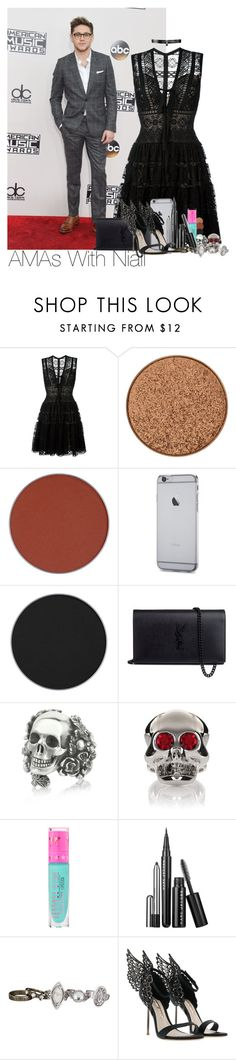 """""""Niall~#56"""" by lauren-beth-owens ❤ liked on Polyvore featuring Elie Saab, Anastasia Beverly Hills, Yves Saint Laurent, Ugo Cacciatori, Moschino, Jeffree Star, Marc Jacobs, maurices, Sophia Webster and Fallon"""