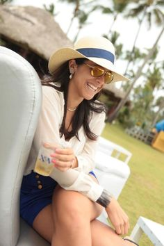 Sombrero de playa Pal'Mar . República Dominicana. Beach Hats ( Foto por Brugal XV)