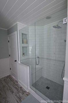 Farmhouse spa....bathroom shower....