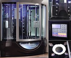 Aquapeutics Luxury Steam Shower woah! I actually cleaned house for a man who had a shower similar to this! So cool!!