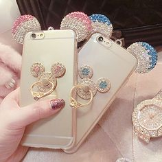 For Samsung Galaxy 2017 2016 Cover Plus Mickey Mouse Ears Bling Rhinestone TPU Back Cover Phone Case Ipod Touch Cases, Bling Phone Cases, Glitter Phone Cases, Cute Phone Cases, Iphone 7, Iphone Phone Cases, Phone Covers, Apple Iphone 6, Ipad Mini