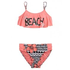Shop Beach Flounce Bikini Swimsuit and other trendy girls bikinis swimsuits at Justice. Find the cutest girls swimsuits to make a statement today. Trendy Swimwear, Cute Swimsuits, Cute Bikinis, Justice Swimsuits, Teen Swimsuits, Summer Bathing Suits, Girls Bathing Suits, Summer Outfits, Girl Outfits
