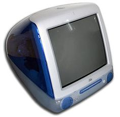 the iMac G3 was the first model of the iMac line of personal computers made by Apple Inc... Originally released in Bondi blue and later a range of other brightly colored, translucent plastic casings, the iMac shipped with a keyboard and mouse in matching tints...The company announced the iMac on May 6, 1998[1] and began shipping the iMac G3 on August 15, 1998. (I actually didn't care for my Imac G3, unlike today's mac's nothing ran on a mac. I got mine in around '00 for high school)
