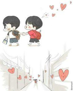 Kyungsoo, Kaisoo, Chanbaek, Exo Stickers, Chibi, Exo Couple, Exo Fan Art, Kpop Drawings, Funny Facts