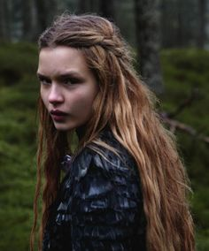 Boho bohemian witchy long autumn hair