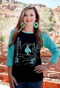 Crazy Train Way Out West Baseball Tee