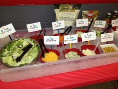 Sesame Street party - salad bar