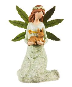 Garden of Good Wishes Angel & Bunny Figurine