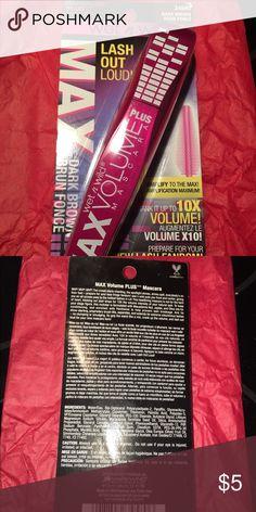 NWT wet & wild mascara Brand new in packaging. Dark brown Wet & Wild Makeup Mascara