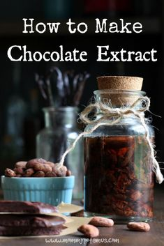 How To Make Chocolate Extract I hope you're sitting down because, whoa, this is huge. Cacao beans contain top notes that are usually lost when they're processed into chocolate, but you can get them back by adding in chocolate extract. Just grab cacao nibs Le Cacao, Cacao Nibs, Chocolate Extract, Cacao Chocolate, Chocolate Liquor, Chocolate Bars, Cacao Beans, Homemade Spices, Homemade Seasonings