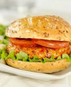Quick & Healthy BBQ Chicken Burgers:  I've made this recipe and it honestly tastes great. It's nice to have a ground chicken recipe, since it tends to be very inexpensive! | via @SparkPeople #food #dinner