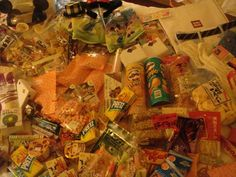 The snacks I brought back from Japan :D