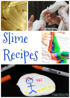 These unique slime recipes are sure to wow! From magnetic slime to colour changing slime to slimes made with the most unusual ingredients you can imagine Sensory Play Recipes, Cool Slime Recipes, Science Activities For Kids, Sensory Activities, Science Fun, Holiday Activities, Toddler Activities, Diy Arts And Crafts, Crafts For Kids