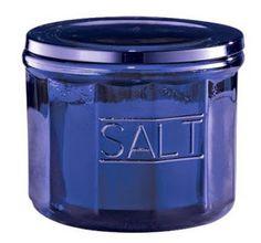 Classic vintage style blue depression glass lidded salt storage jar cellar new Cobalt Blue Kitchens, Azul Indigo, Blue Dishes, Cobalt Glass, Gifts For Cooks, Aprons Vintage, Blue Bottle, Jar Storage, Food Storage