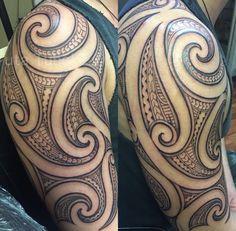 New Tattoos, Body Art Tattoos, Tribal Tattoos, Tatoos, Tatoo Designs, Hybrid Design, Maori Art, Polynesian Tattoos, Different Styles