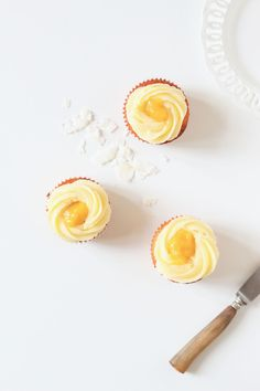 tropical cupcakes - ananas, mangue, coco